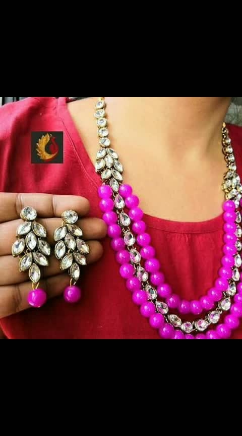#Kundan Coloured Beads Necklaces with Earrings  *Material*: Alloy  *Stone Type*: Crystal  *Chain Length*: 22.0 (in cm)  *Earrings Length*: 2.5 (in cm)  *Free  shipping & Easy Returns*...cod available  *Delivery*: Within 6-8 business days   Price :430/-  https://myshopprime.com/collections/30238354