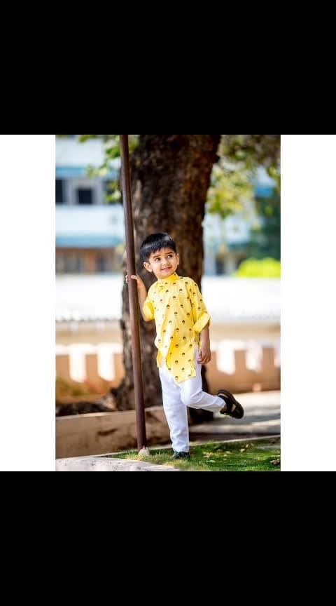 So I have an in-house baby model, and guess who? Well, my son! Everytime I'm out for shoots, he says 'Mumma, me too shooting' with all his innocence. And it's high time that he got a couple of cool pictures clicked! So here it is,  a smart yellow kurta from @klm_fashionmall along with plain with cotton pants. Absolutely summery! They have a lot more collection in the kid's wear section.  Check out my blog for more details. #linkinbio Baby happy with the shoot, Momma happy with the pictures 😍 Clicked by @satishyalamarthi #babyshoot #childmodel #hyderabadfashion #hyderabadclothing #kidswearhyderabad #besthyderabadblogger #bestfashionbloggers #indianfashionblogger #yellowkurta