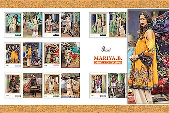 MARIA B MUZLIN COLLECTION BY SHREE FABS PURE COTTON PAKISTANI DRESS MATERIALS  CatalogMARIA B MUZLIN COLL Pcs8 AVG. Price650 Full Price5200 Full Price With Gst5460 SizeUnstitched,  For more collections visit our website :- http://hellostyle.in/  Call or whatsapp :- +91- 7434983433