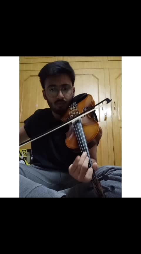 Just tried the Veena part that comes in the song called madhurami kshaname from arjun reddy #music #violincover #violinist #violinstrings #arjunreddy #madhurame_ #vijay-devarakonda #musician #coversongs