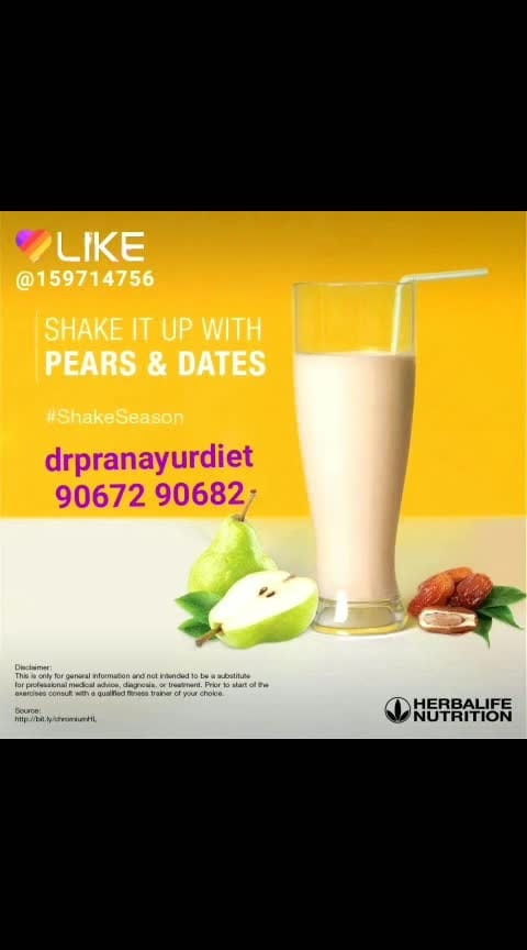 If you're looking to burn some calories this summer, try adding pears and dates to your shake! Full of chromium and dietary fibre, these fruits add a huge dash of flavour and nutrition to your summer diet. Tasty aur healthy! #pears  #dates  #summerfruits  #lovemyshake  #goodnutrition  #SummerSmart  #Burncalories #drpranayurdiet