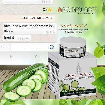 Testimonial Friday !! Happy clients, happy us 😊😊😊 Cucumber skin nourishing cream most importantly revitalises and rejuvenates the skin. It reverses tanning, fights cellulite, soothes sunburn, treats open pores & reduces dark circles.     Get The Product : http://bioresurge.in/ | Amazon, Snapdeal, Flipkart, 1mg, Nykaa, Guardian pharmacy, Paytm, eBay, Qtrove, Healthmug, LimeRoad, Shopclues.   #bioresurge #chemicalfreeskincare #pure #naturalsmile #ayurveda #organic #lifestyle #love #smile #beauty #healthy #naturalskincare #free #deals #grabthebest #skincare #CleanSkin #PureSkin #FlawlessSkin