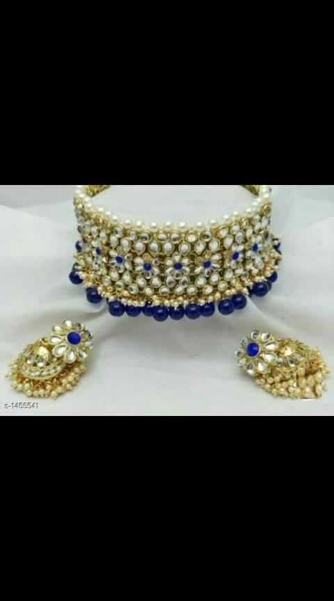 #chokernecklace #chokerlove #chokertrend #choker #kundan chokerset 750 is cost Trendy Alloy Kundan Choker Sets   Material: Alloy  Size: Free Size Description: It Has 1 Piece Of Choker With 1 Pair Of Earring Work: Kundan Work, Beads Work Dispatch: 2 – 3 Days Cash on delivery is available  Return and replacement also available  Intrested people can call or wats app to 8367373114