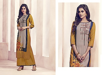 """Enhance Your Personality Wearing This Designer Readymade Kurti And Plazzo ♥ Price:- 1650/- Size Available XS(34""""), S(36""""), M(38""""), L(40""""), XL(42""""), XXL(44"""") For Order/Price What-app us (+91) 8097909000 * * * * #salwar #salwarsuits #dress #dresses #longsuits #suitsonline #embroidered #kurtiplazzao #set #onlinefloralsuit #floral #fashion #style #palazzosuits #shararastylesuits #classy #designer #partywear #partyweargown #exclusive"""