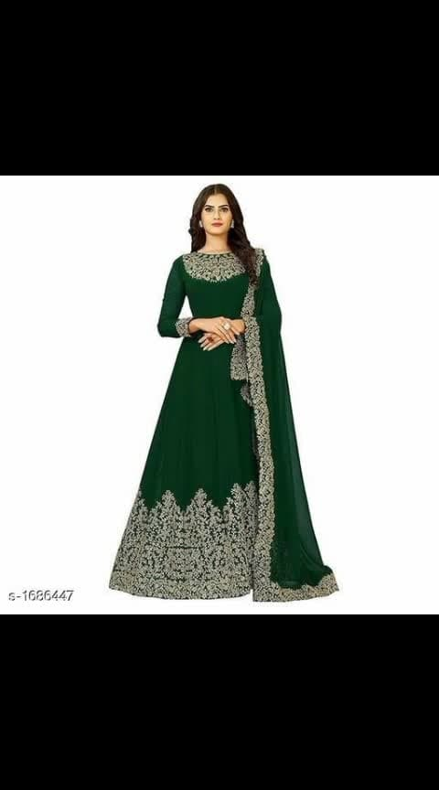 #womensfashion #suits-designer-by #party-wear #glossy-designer-suit Its cost is 1700 Designer Stunning Georgette Embroidered Suits & Dress Materials Vol 5  *TOP* : Georgette +  Embroidery ( Bust Size: Up To 46 in , Length - Up To 50 in) *INNER*: Santoon + Solid (2 Mtr) *BOTTOM* : Santoon + Solid (2 Mtr) *DUPATTA* : Nazneen +  Embroidery  (2 Mtr)  *TYPE* :  Semi- Stitched *COLOUR* : Multi Colour  *CONTAINS* : 1 TOP WITH INNER, 1 BOTTOM & 1 DUPATTA  Dispatch: 2 - 3 Days Cash on delivery is available Return and replacement also available Intrested people can call or wats app to 8367373114