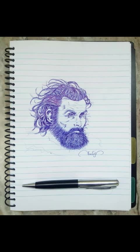 Hollywood to Kollywood - best characters #amazing-art #sketchings #thalapthy-vijay #joker #got_tormund