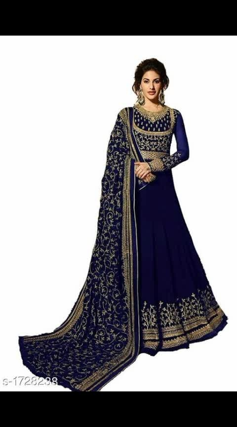 #womensfashion #women-style #women-branded-shopping #womenkurtisonline Its cost is 1999 Kashvi Designer Embroidered Georgette Suits & Dress Materials Vol 1  *TOP* : Faux Georgette + Embroidered ( Bust Size: Up To 45 in), Length - Up To 58 in, Flair - 3 Mtr *INNER*: Santoon + Solid (2 Mtr) *BOTTOM* : Santoon + Solid (2 Mtr) *DUPATTA* : Faux Georgette + Embroidered (2 Mtr)  *TYPE* :  Semi- Stitched *COLOUR* : Multi Colour  *CONTAINS* : 1 TOP ,1 INNER , 1 BOTTOM & 1 DUPATTA  Dispatch: 2 - 3 Days Cash on delivery is available Return and replacement also available Intrested people can call or wats app to 8367373114