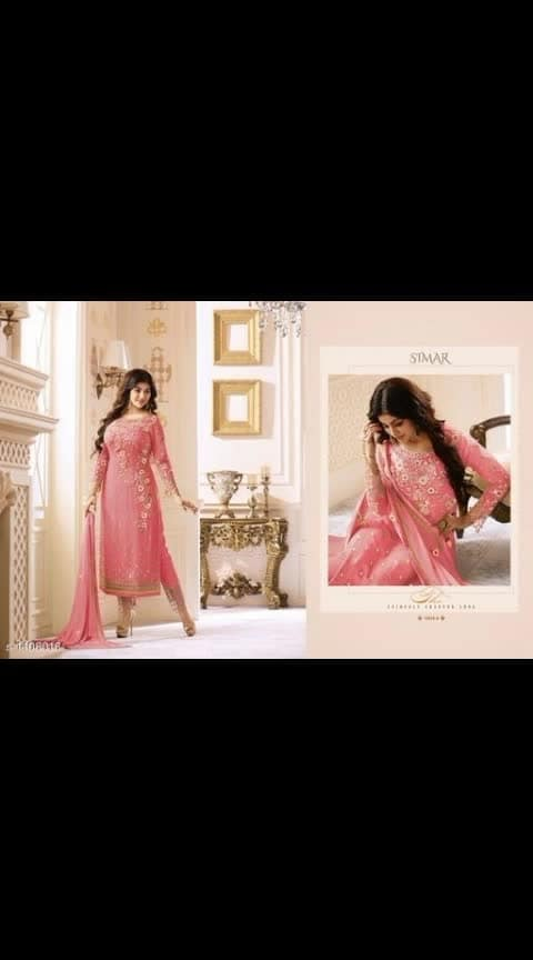#embroidereddress #dressing #glossy-designer-suit #partyweardress Its cost is 2500 Glossy Maisha Gorgeous Georgette Embroidered Dress Materials Vol 2  *TOP* : Georgette + Embroidered ( Up To 44 in ) , Length - 48 in  *BOTTOM* : Santoon + Embroidered( 2.5 Mtrs)  *DUPATTA* : Nazneen + Embroidered( 2.5 Mtrs ) *TYPE* :  Semi -Stitched *COLOUR*: Multi-Colour  *CONTAINS* : 1 TOP, 1 BOTTOM, & 1 DUPATTA Dispatch: 2 - 3 Days Cash on delivery is available Return and replacement also available Intrested people can call or wats app to 8367373114