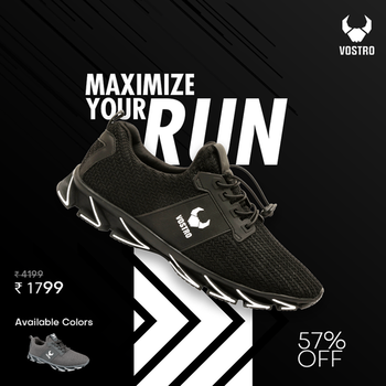 Purchase New Trendy & Stylish Vostro Vance Running Shoes for Men Online at the Best price. To Buy Online Click here:  http://bit.ly/2WgFcGs  ✅ Product Name: Vostro Vance Men Running Shoes ✅ 100% Original Guaranteed ✅ All Sizes Available ✅ Colour Availability: Black & Grey ✅ Free shipping on orders above INR 999 ✅ Cash On Delivery (COD) Available ✅ 10 Day Return Policy, Easy refunds & returns   #vostroshoes #menshoes #vostrovance #sportsshoes #runningshoes #shoes #footwear #menfashion #lifestyle #shoessale #shopping