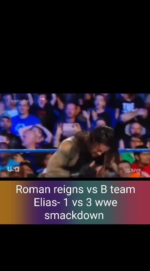 Roman reigns vs B team Elias- 1 vs 3 wwe smackdown