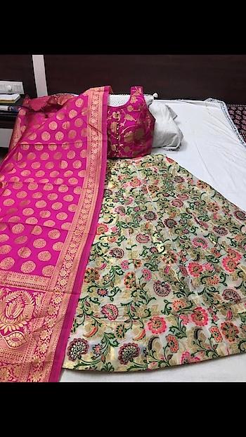 Beautified Banarasi Lehenga with Readymade Blouse Limited Stock ♥ To Order WhatsApp us (+91) 8097909000 Price:- 3620/- Lengha FABRIC- Banarasi Thread work Lengha & Banarasi Duppta BLOUSE - Stitch blouse with padded  Note (semi stitch Lengha with the cane-cane Flair-4mtr, Length-42, Blouse size 36-38 2inch margin extra inside) * * * #lehengas #weddingwear #bridalwear #partywear #banarasi #banarasicollection #banarasilehenga #partywearlehenga #indianwedding #desiwedding #bride #desibride #indianbride #designer #onlineshopping #wedding #ethnic #beautiful #blue #blouse