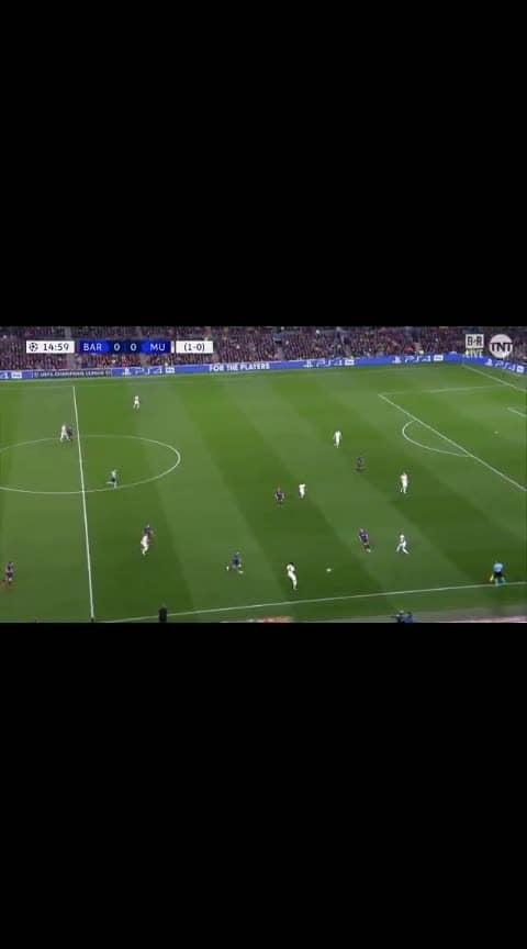 leo First goal.. Barca:1-0:MU #footballfever #footballmoments #roposo-sports #roposo-sports #barcelona #laliga #premierleague #championsleague