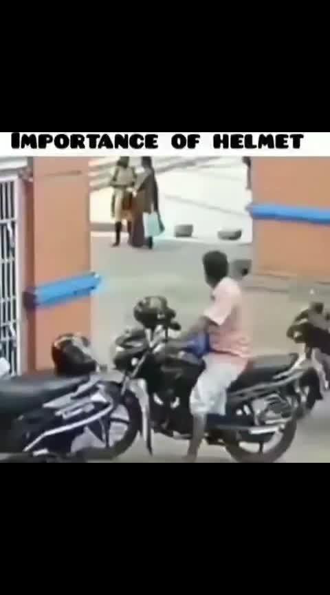 importance of helmet.... 🙏🙏🙏 #use_helmet #importance_of_helmet  #besafe #roposoness