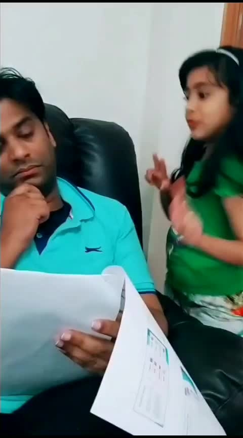 Dad Daughter's Craziness🤪🤣  I can't stop myself laughing 🤣🤣 #maths #funny #daughter-dad #funtimes #justforfun #roposoness #roposostar #roposotv #laasya #littlegirl #girlslikeyou #comedy #roposo-comedy