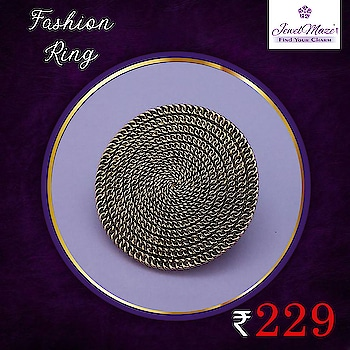 OXIDISED FASHION RING Flat   at Rs.229/- 💍💎  SHOP NOW :-  https://bit.ly/2H1m4a7  👉 CASH ON DELIVERY AVAILABLE   #oxidisedring #gold #ring #fashionring #jewellery #JewelMaze #onlineshopping #shopping #fashion