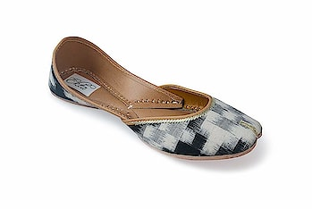 Ekta Women Handcrafted jutti ikat juttis For Girls  Rs: 1,416  Styled with a pure cotton fabric upper and cushioned inner sole, these handcrafted juttis with an ikat pattern flaunt indigenous artisanship  https://amzn.to/2WpDzGv