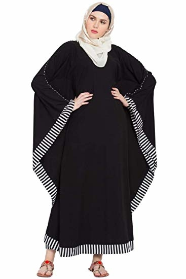 Sabah fashion Black With White Strip Abaya Burkha Dress for Girls, Ladies & Women  Rs: 1,768  This Kaftan abaya is for regular use and highly comfortable. The matching of black with white strip makes it stylish and party wear. This abaya is a masterpiece that will have you ready for any event and occasion & it elegant and stylish look gives you a stunning look.  https://amzn.to/2LlGLSp