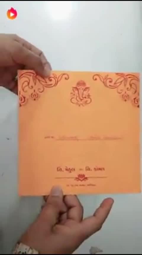 अशी लग्नपत्रिका रोज यावी घरी म्हणजे लग्न कितीही लांब असलं तरी काही वाटणार नाही. 😮😮😮😮   #weddding  #weddinginvitations #hahatvchannel #beats #nice #filmykeeda #flimyscene