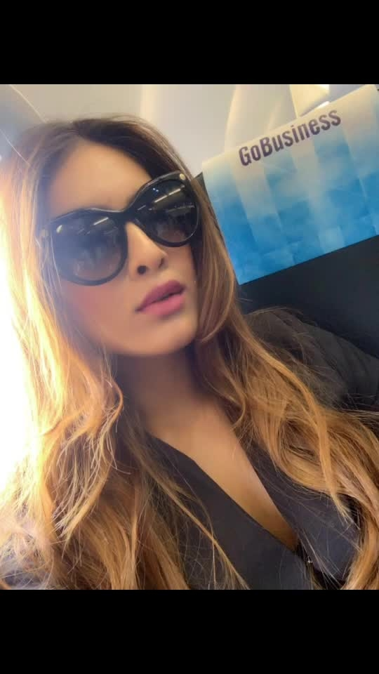 Okay inflight selfie is must 😍♥️♥️♥️ : Working weekend vibes ... Off to DELHI for the designer wear shoot with @labelmraar ♥️♥️♥️ stay tuned for all the updates ....😍😍 : Today's airport look by @drobekart 🌟🌟 : #inflight #inflightselfie #goairbusiness #airportlook #ootd #airportoutfit #airportstyle #airportfashion #delhi #seeyousoon #drobekart #mumbai #travelling #travelholic #travelblogger #labelmraar #travelphotography #nehamalik #model #actor #blogger #instagram #instagood #instafollow