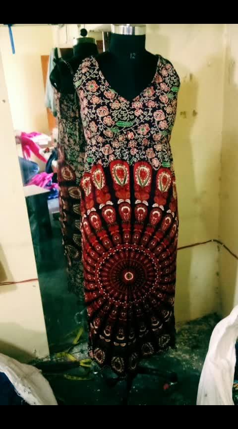 Nice collection Mandala print Long Dress Rayon