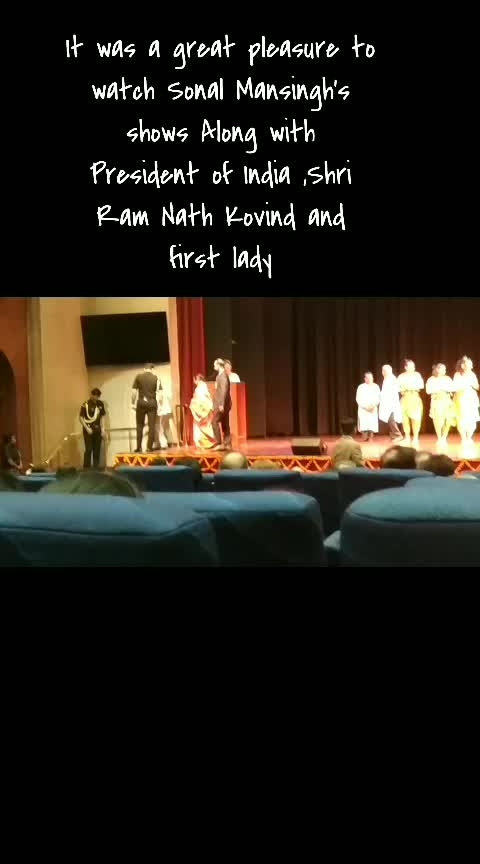 Experiencing live stage shows for the first time with #presidentofindia and first lady