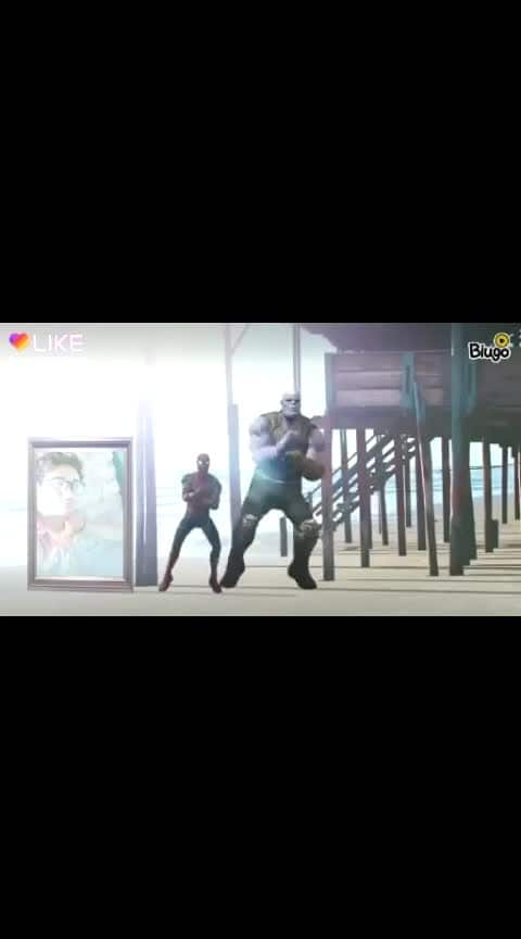 #spider-man and thanos amaging dance
