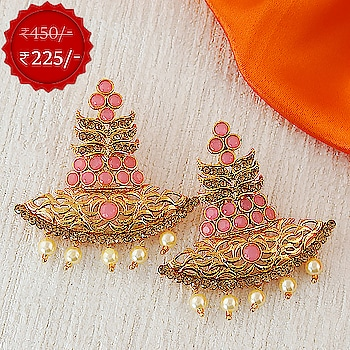 Best Deal Ever... 🤩  Gorgeous collection of traditional earrings is here. Hurry up! Grab it now. To see more designs click on this link: http://bit.ly/2JgkuTq  #earrings  #traditionalearrings  #ethnicearrings  #goldenearrings  #fancyearrings  #indianwear  #traditional  #womensfashion  #fashion  #jewelry  #ring  #jewellery  #traditionaljewellery  #collection   #finejewelry  #artificialjewellery  #avengersendgame  #AnuradhaArtJewellery