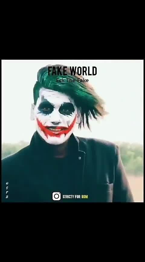 fake world fake people fake love fake album