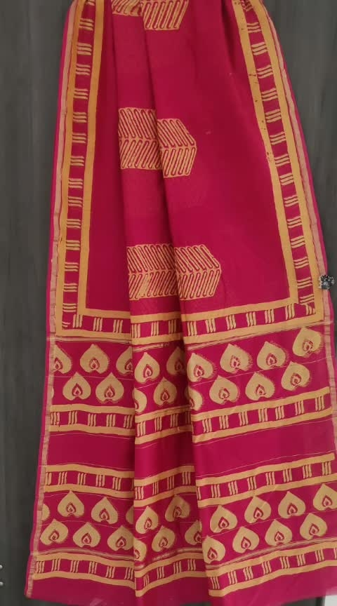 #rkds #₹1999WithFreeShipping  Exclusive new Hand Block Printed Chanderi Silk sarees with blouse