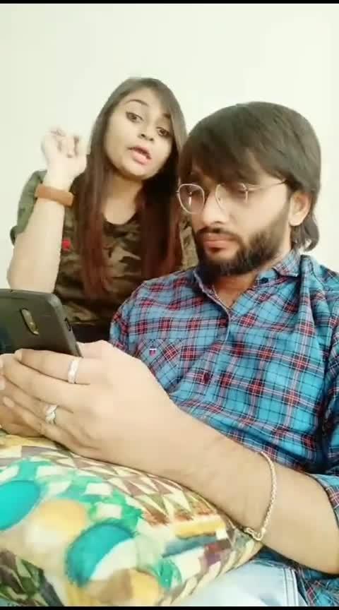 Meri reshmi julfe 🙈 🙈 #comedy #vines #roposo #roposostar #couple #comedyindia  #gujjukisena
