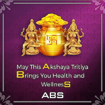 May This Akshaya Tritiya Brings You Health and Wellness  #AkshayTritiya #sanskrit #india #festival #laxmi #wealth #goddess #hinduism #celebrations #अक्षय_तृतीया  #AkshayaTritiya2019  #akshay  #akshaydhan #gold  #absfitnessnwellnessclubnashik  #AbsFitnessNWellness #absnashik #absolutelyalive #Nashikfame #abs #Nasik #Nashik #fitnessmotivation  #fitnesssfirst #fitnessmotivation #fitnessgoals #health #wellness