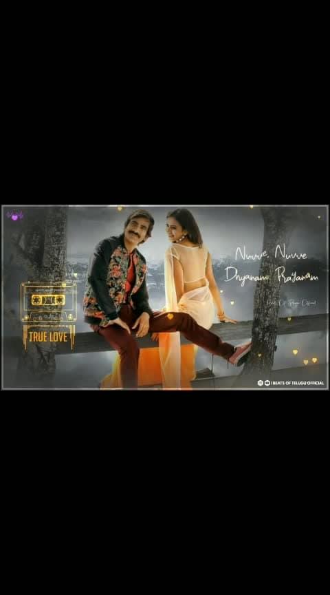 #nuvvenuvvepraanam #raviteja #rakulpreetsingh #kick2 #lovewhatsappstatus #lovesong