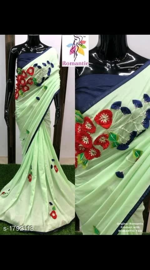 #designer-wear #designer-saree #designer #party-wear #party-edit #chiffonsaree Ethnic Latest Vichitra Silk Sarees Vol 3  Fabric: Saree - Vichitra Silk, Blouse - Banglori Silk    Size: Saree Length - 5.5 Mtr, Blouse Length - 0.80 Mtr Work - Embroidery & Patch Work Dispatch: 2 - 3 Days Cost 1100 Cash on delivery is available Return and replacement also available Intrested people can call or wats app to 8367373114