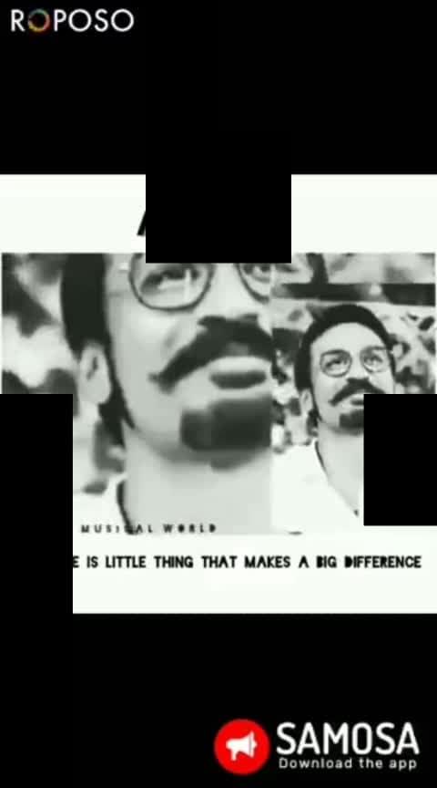 THAT SMILE❤️❤️ #mari #dhanushfans #dhanush #tamilsonas #roposotrendz #instamorning #attitudel #attitude