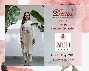 what's not to love about a summer day? kissed by the sun, the warmth of its embrace while honeysuckle breezes cool your face • BRIH Spring Summer '19🌾 • A collection made specially for those intertwined moments of rush and recline available at Deval The Multi Designer Store!!! #devalstore #ahmedabad #designerstore #designerwear #womenswear #summercollection #summercotton #summercollection #multidesignerstore #summerbreeze