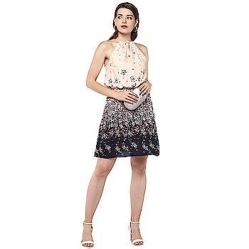 Women A-line Multicolor Dress https://bit.ly/2VY1fBG