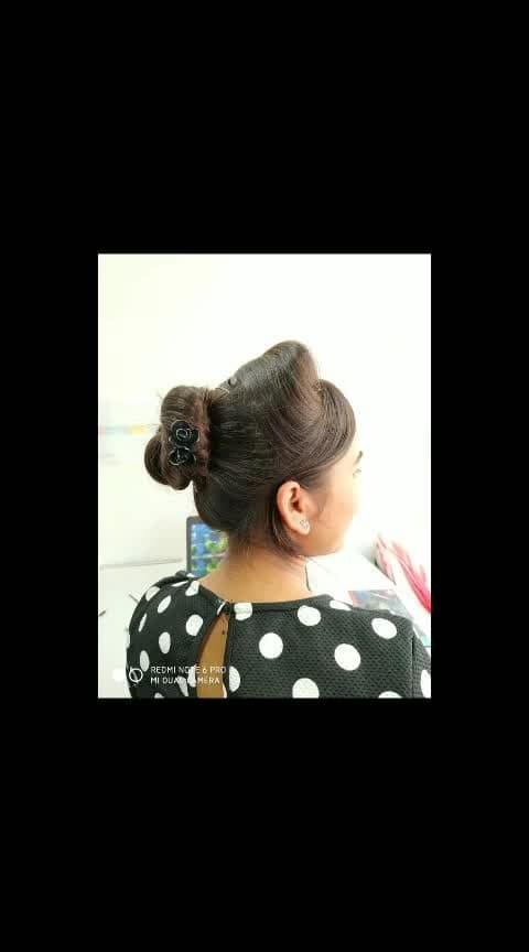Ballerina bun never disappoint you...It always go well with friday casuals....!!!!!!!!!!,😍❤️ #fridaymood #officefashion #ballerinabun #hairbun #casualhairstyle #lovehairstyle #officecasuals #summer-style #summer-fashion  #summerhairstyleidea