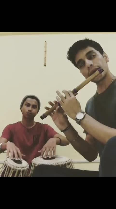 Channa Merreya Tabla and Flute cover- Part 1💗💗  #channamereya #tabla #flute #viral #trending #roposo #india #