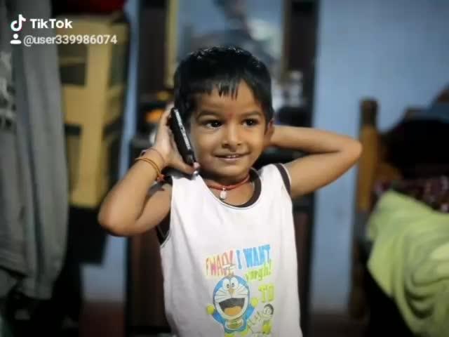 #hello-srujana-tinnavara #dialogue by #smallboy so #cute