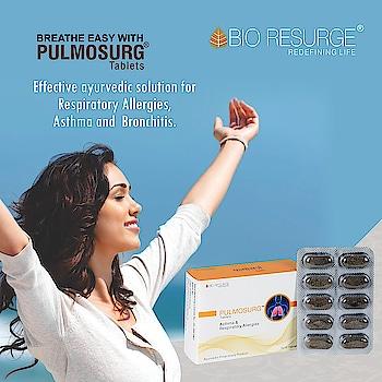 Suffering from Asthma,  Bronchitis and Seasonal Allergies! Take Pulmosurg Tablets for immediate relief.  Buy Now: Bio Resurge( https://bit.ly/2VlHyqs )   Amazon, Flipkart, 1mg, eBay, Healthmug.  #health #healthy #Natural_Healthy #bioresurge #AdvancedAyurveda #Allergies #Asthma #wellness #organic #life
