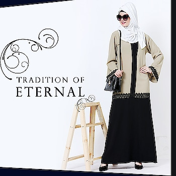 Add a layer of sophistication to your abaya collection with this graceful and elegant dual colored unique gown style abaya complimented through flowy sleeves and lace detailing! Shop Now : https://bit.ly/2vAxHyv #abaya #hijab #traditionalclothing #outfits #muslimahchamber #frontopenabaya #muslimwomen #muslimgirl #hijabista #islamicwear #hijabfashion #hijabonline #hijabstyle #hijabootd #abayaindia #abayadress #abayamoden #abayalover #abayashop #abayafashion #embroideredabaya #blackabaya #blackhijab #hijabista #hijaboutfit #hijabmuslim #hijabi #islamicwear #islamicfashion #muslimahwear