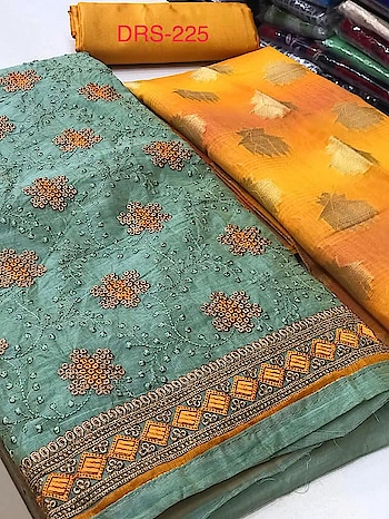 MAHIKAA COLLECTIONS LAUNCHES online selling of WOMEN FABRICS. please click on picture or our online link below or BUY DIRECTLY FROM US USING PAYTM / BANK TRANSFER CONNECT WITH US AT info@mahikaa.in or whatsapp : 7984456745  Silk organdi top with heavy jaal work  Plain santoon silk bottom  Banaras silk Dupatta  Rate 1675 +$ #business #innovation #sales #health #fintech #amazon #mondaymotivation #wellness #news #engineering #banking #newyork #smartcities #gifts #credit #fridayfeeling #r #r #emotionalintelligence #protection #cash #engineers #engineers #publishing #electronics #reviews
