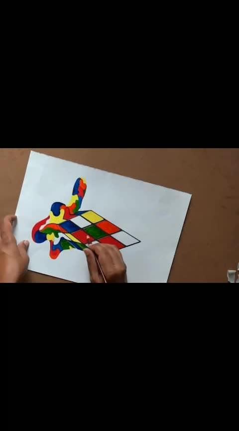 #3dart #3d #3darts #cube #rubikcube #wow