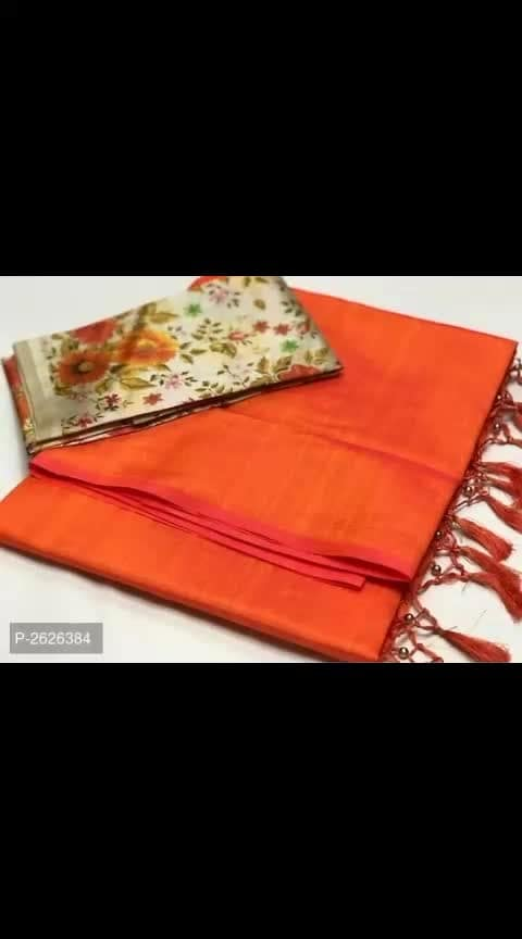 #sarees #women-style #womensdailywearsarees #designer-saree  Its cost is 750 Solid Soft Silk Blend Sarees with Digital Print Blouse  Fabric: Silk Blend Type: Saree with Blouse piece Style: Solid Saree Length: 5.5 (in metres) Blouse Length: 0.8 (in metres) Delivery: Within 6-8 business days Returns:  Within 7 days of delivery. No questions asked Cash on delivery is available Return and replacement also available Intrested people can call or wats app to 8367373114
