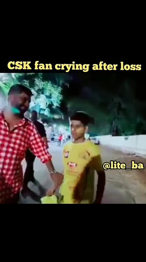 Thus boy cried after Chennai lost the match #ropososportstv #cskfans #ipl-2019 #dhoni-csk
