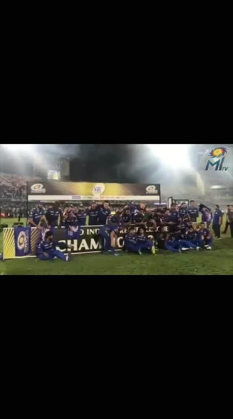 #Champions of IPL 2019   Mumbai Indians..👍💐