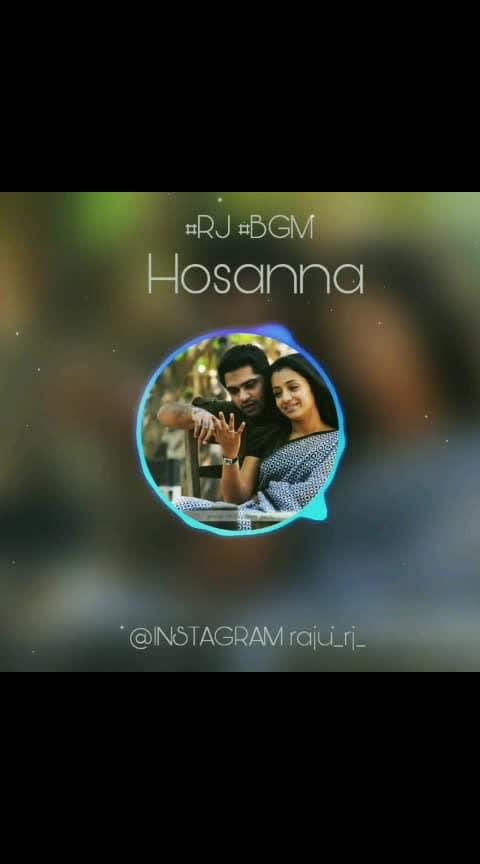 #gauthamvasudevmenon #arrahman #hossana #chimpu #thrisha #love
