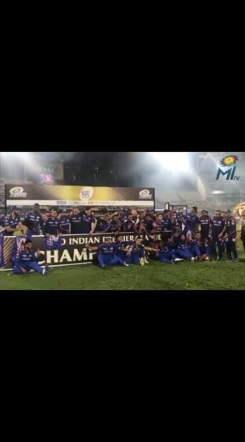 #ipl-2019 #vivoipl2019 #champions #mumbaiindians #cricket #rohitsharma45