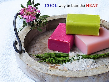 Handmade natural soap to keep your body cool. A natural treatment for maintaining healthy skin and contains anti- oxidants to keep your skin healthy and hydrated. Cleanses skin from deep within. #slsfree #parabenfree #parabenfreeskincare #parabensfree #mineraloilfree #nottestedonanimals #madeinindia #crueltyfree #crueltyfreeskincare #fuschia #fuschiabyvkare #fuschiavcare #natural #handmade #soap #soaps #detox