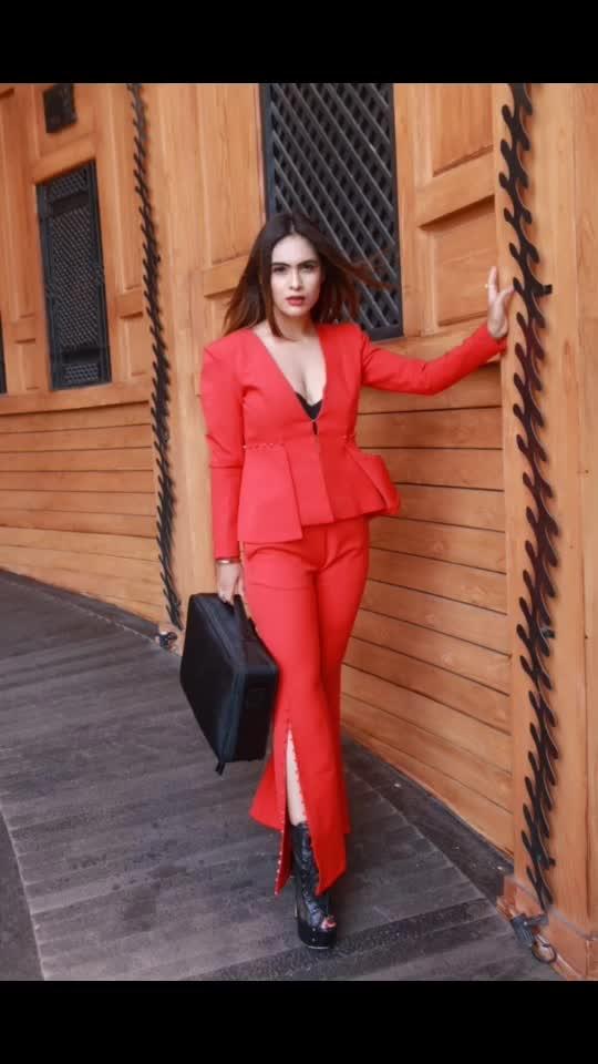 "Be office ready in style 😈😈😈😈 : : : Outfit - @paparazzicloset  Use My code "" NEHA15 ""to get 15% off 🤩here's the link https://appurl.io/jlkjf4cr 😍 : Shoot location- @barrelmansion  Makeup and Hair @makeupbysanjam_ : : #redhot #merewalisardarni #redsuit #shoot #barrelmansion #formalsuit #suitstyle #photoshoot  #sexy #hotdress #stylish #fashionblogger #fashioninsta #paparazzicloset #sakhiyaangirl #fashionblog  #mumbai #boldandbeautiful #bossbabe #nehamalik #model #actor #blogger #instagram #instagood #instalike"